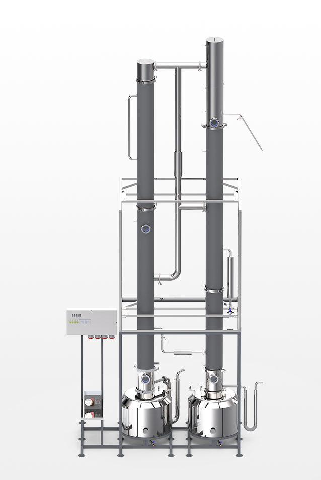 Непрерывная бражная колонна НБК 250 для зерновой браги